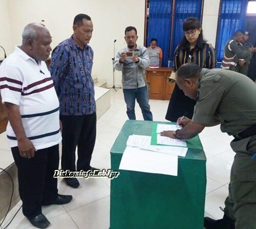 Penandatanganan MoU Pemkab Jpr-Satpol PP KabJpr dan BPJS Cab. Jpr