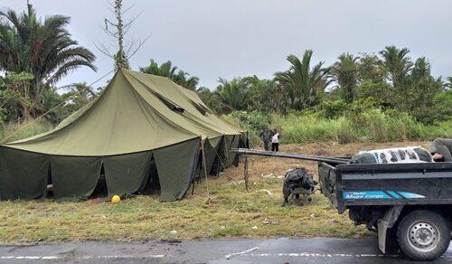 Kamp Pengungsian Warga yang tinggal di danau akibat rumah yang terendam